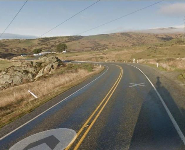 A section of State Highway 8 in the Roxburgh Gorge soon to be bridged by ''hurdle'' structures to...