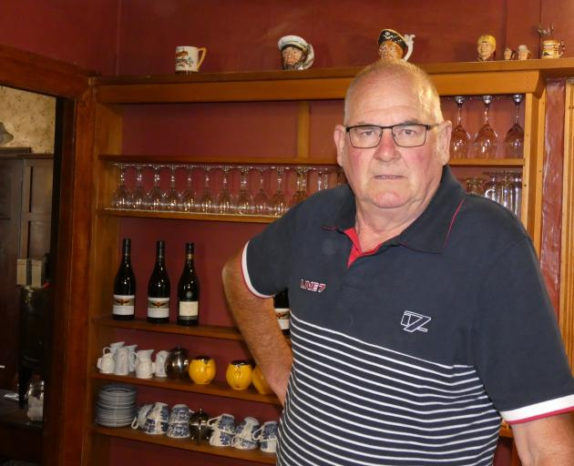 Royce Clark's time behind the bar at the historic Vulcan Hotel in St Bathans  is ending and the...