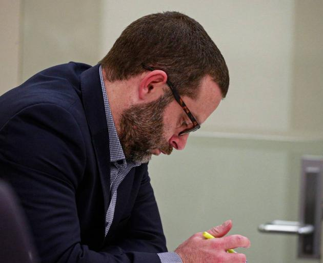Aaron Hutton pictured in the Auckland District Court last year. Photo: NZ Herald