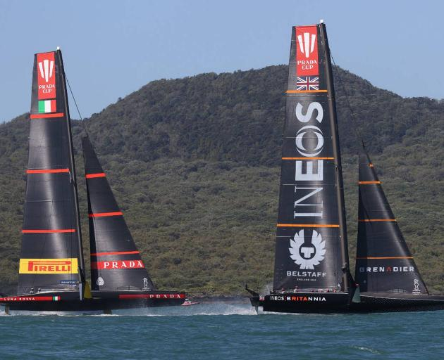 Luna Rossa put up a little more fight, but were still no match for Team UK in race two. Photo: NZ...