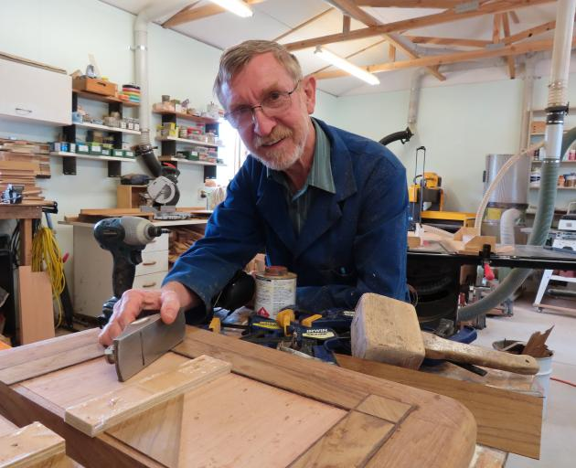 Woodwork tutor Chris Thompson is ready for a new group of night students. Photo: Linda Clarke
