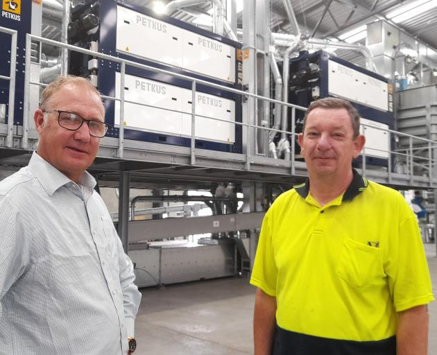 Luisetti Seeds operation director Vincent Luisetti (left) and Petkus technology manager Roger...