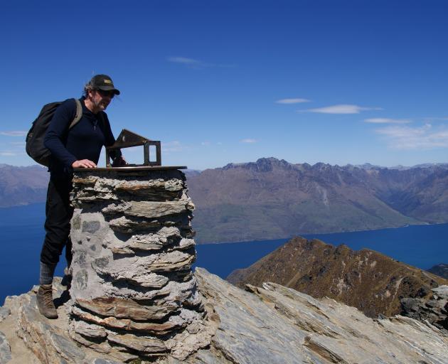 Chris at the visor on top of Ben Lomond. PHOTO: ALINA SUCHANSKI
