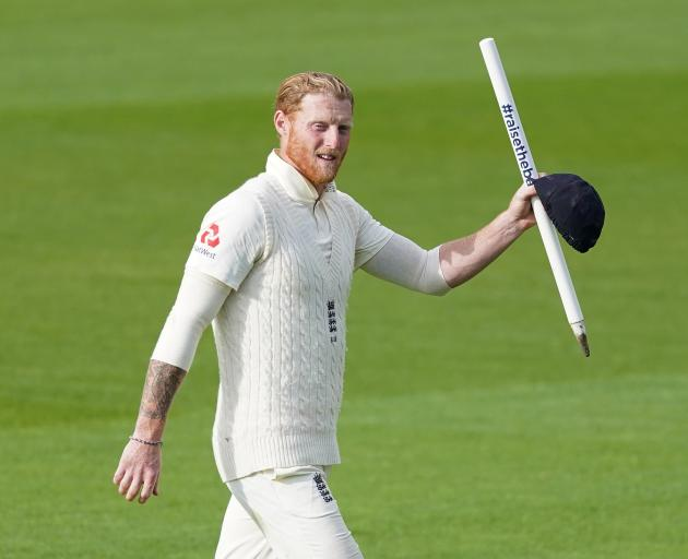 England's Ben Stokes celebrates after England won the second test against the West Indies. Photo:...