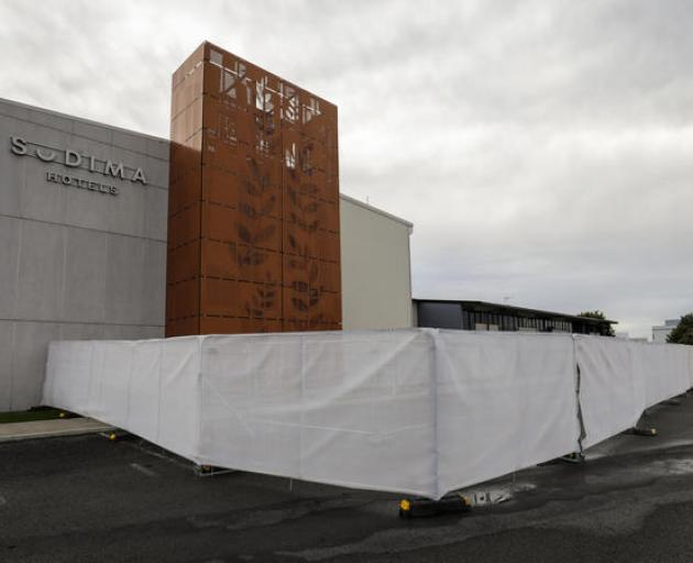 The Sudima Hotel in Christchurch which is being used as an isolation facility. Photo: RNZ / Nate...