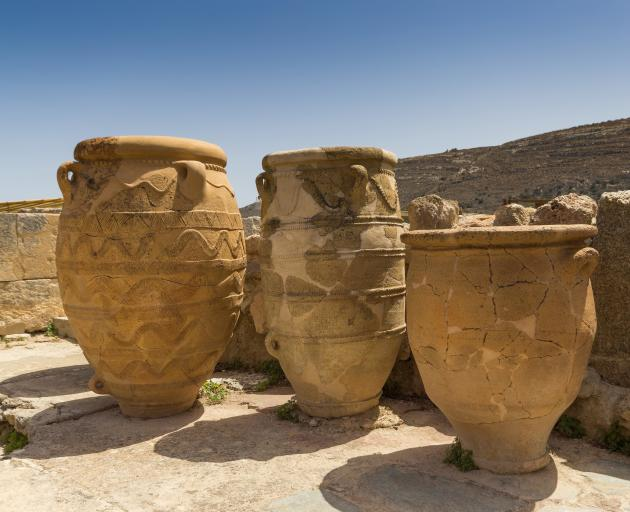 Urns like these at the Palace of 