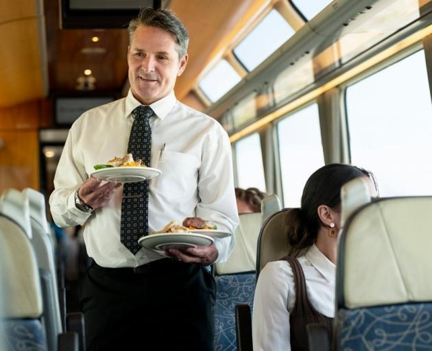 Hospitality in the Scenic Plus carriage is a feature. PHOTO: GREAT JOURNEYS OF NEW ZEALAND