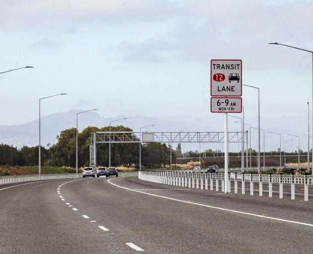 The T2 transit lane, southbound on the Northern Motorway, is only for vehicles that meet certain...
