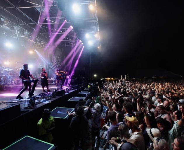 Shapeshifter performs at Robrosa Station, Cardrona, on Saturday night. PHOTO: SUPPLIED