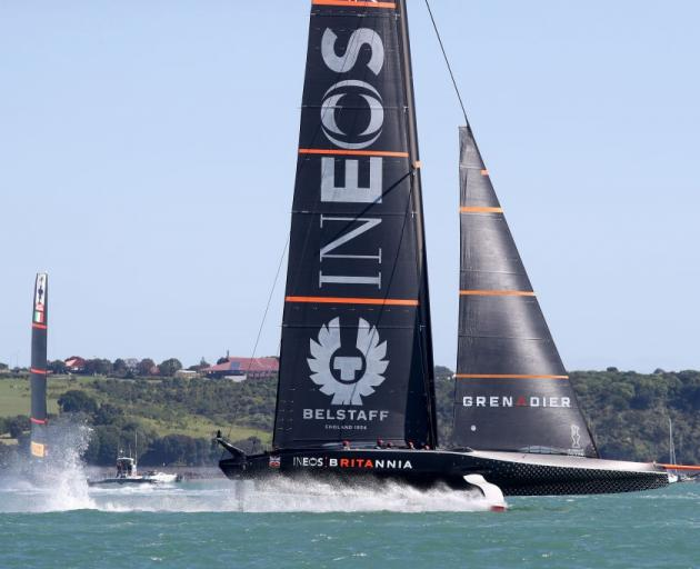 Ineos races against Prada in pre-Christmas racing in Auckland. Photo: Getty Images