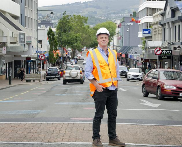 Redeveloping George St in Dunedin is one major project Josh von Pein will be tasked with keeping...