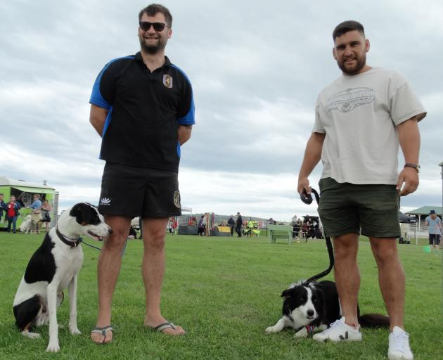Owner of the first Waitaki Super Dog Kwaye Raumati (left) and super dog Finnigan. PHOTO: RUBY...