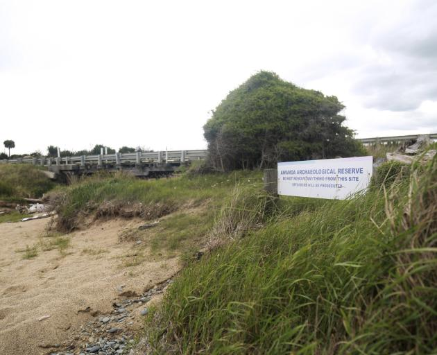 The need for ongoing protection at the Awamoa Creek archaeological site is being assessed, after...