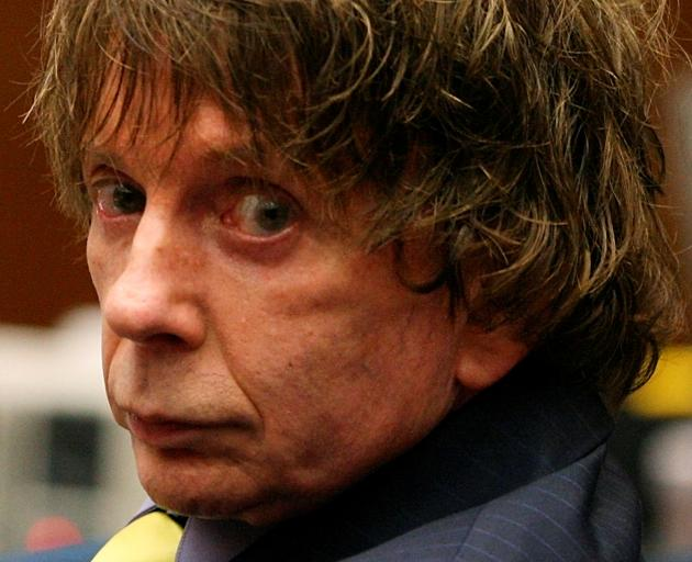 Music producer Phil Spector appears in court during his murder trial in Los Angeles. Photo: Reuters