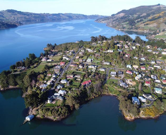 An aerial view of Roseneath and the West Harbour area. PHOTO: OTAGO DAILY TIMES FILES