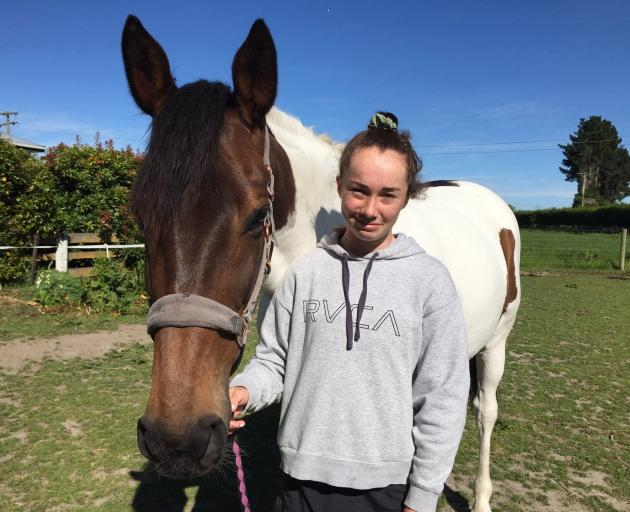 Chloe McKenzie, of Kaka Point and her horse Shianne who ...