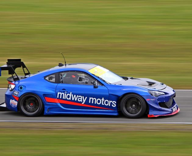 Henderson races his Toyota GT86 at the Open Saloon Car Association super saloons event at...