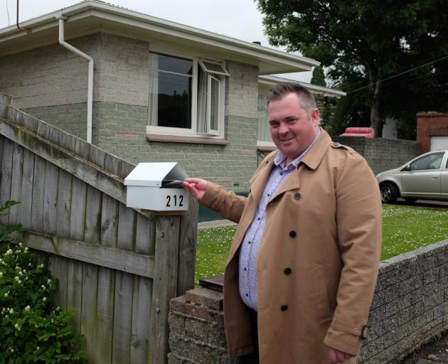 PhD candidate Kyle Whitfield drops 2020 General Election survey questionnaires in letterboxes in...