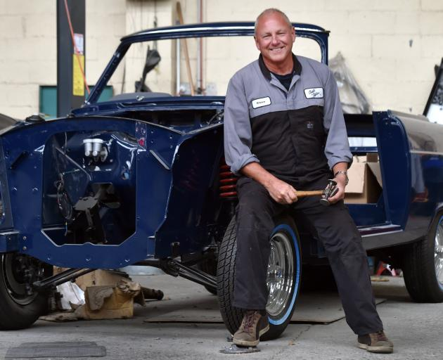 Soon-to-be-retired Dunedin panelbeater Steve Roy (66) is looking forward to restoring his Ford...