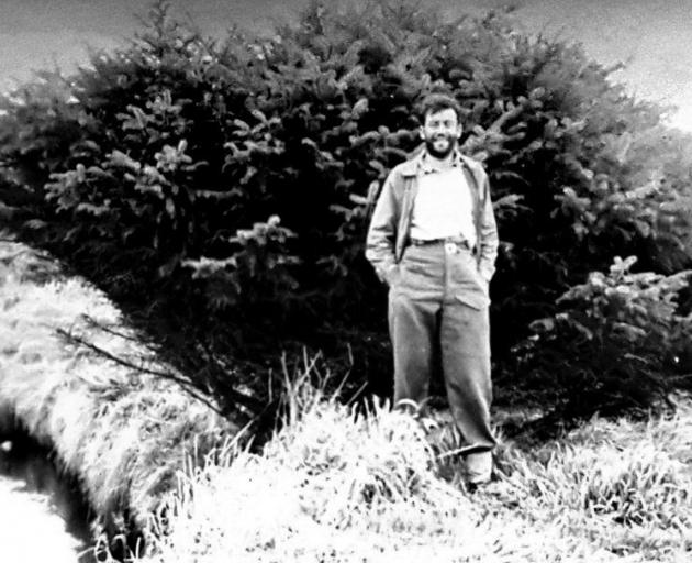 Robert Stanley stands in front of the spruce in the early 1950s. PHOTO: SUPPLIED