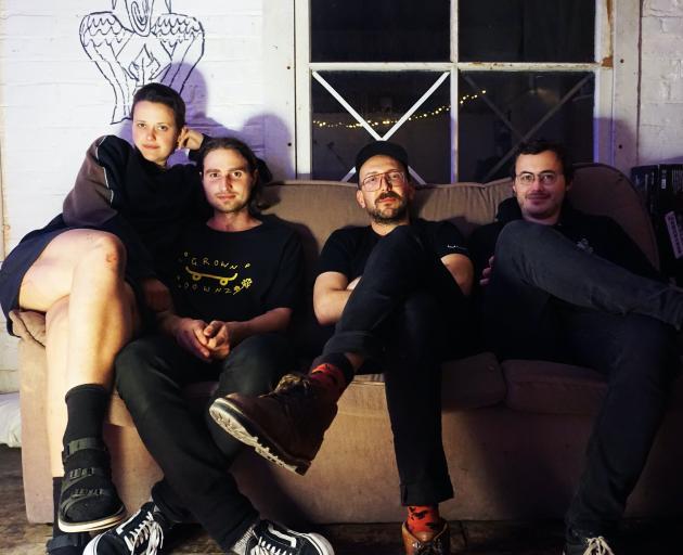 Asta Rangu are (from left) Julie Dunn (keys), Josh Nicholls (drums), Angus McBryde (bass) and...