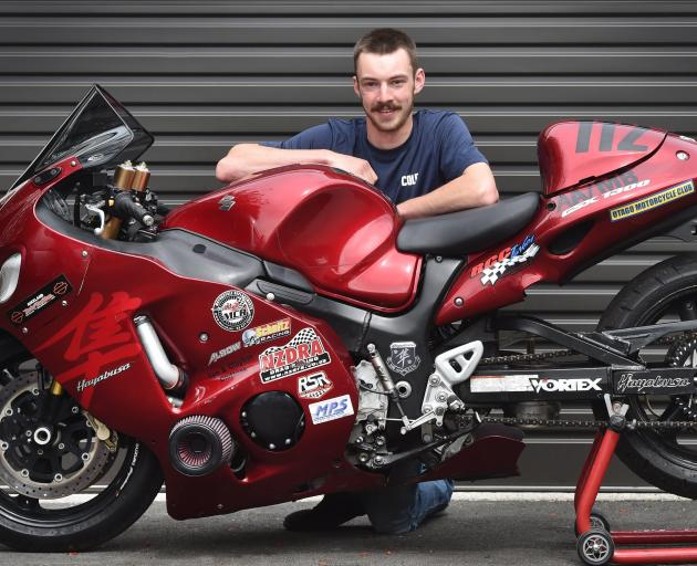 Cole Scammell, with his Suzuki Hayabusa, is all set to compete in the Burt Munro Challenge at...