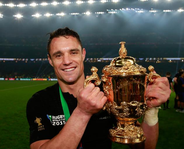 Dan Carter retired from tests shortly after the All Blacks' 2015 Rugby World Cup triumph. Photo:...