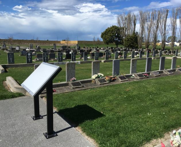 This area of the Kaiapoi RSA cemetery is to be re-dedicated on Friday. File photo
