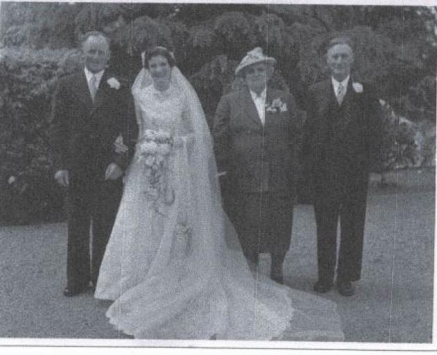 Percy Fleete (left) marries Mary Fleete in 1910. Photo: Supplied
