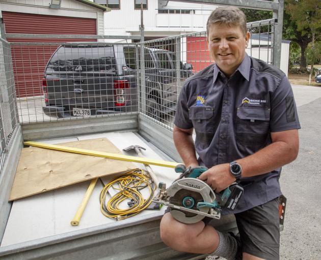 Richie Bee moved his building business to Lincoln from the North Island in 2013. Photo Geoff Sloan
