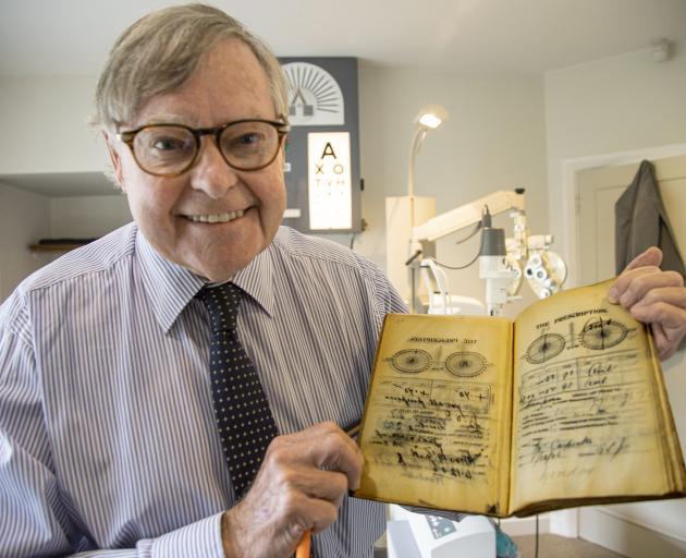 John Veale still writes his prescriptions by hand, like Christchurch's pioneering optometrist,...