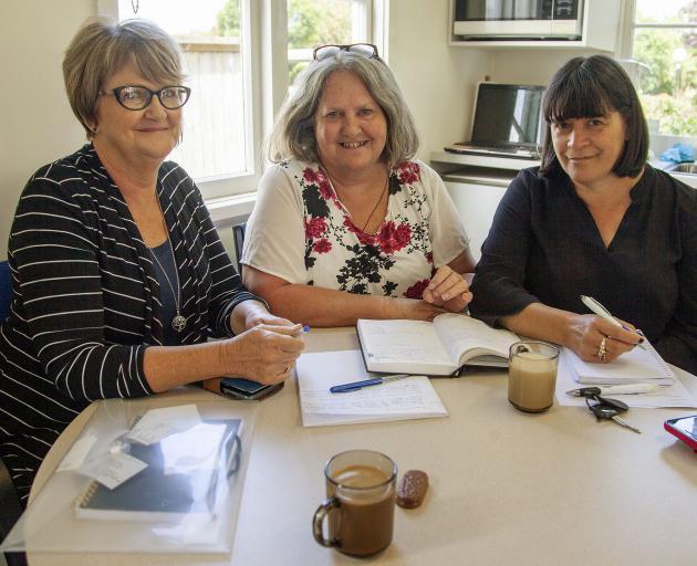 Grandparents Raising Grandchildren Trust NZ east side co-ordinator Sandra Murphy, Anna Clare and...