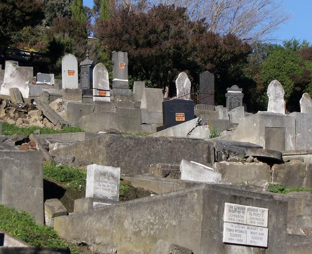 Lyttelton cemetery. Photo: Geoff Sloan