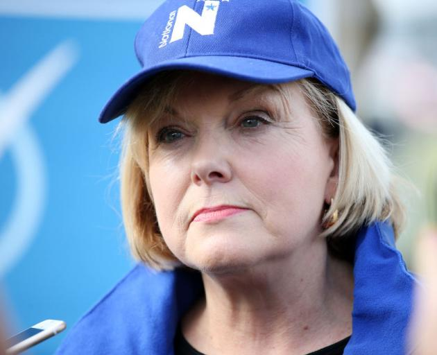 Judith Collins on the campaign trail yesterday. Photo: Getty Imaged