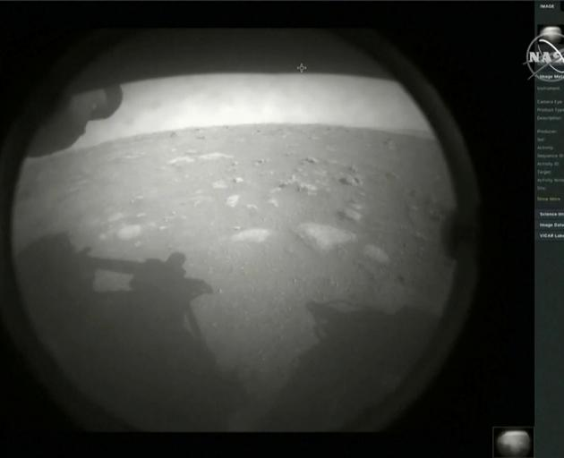The first images arrived moments after Nasa's Perseverance Mars roverspacecraft successfully...