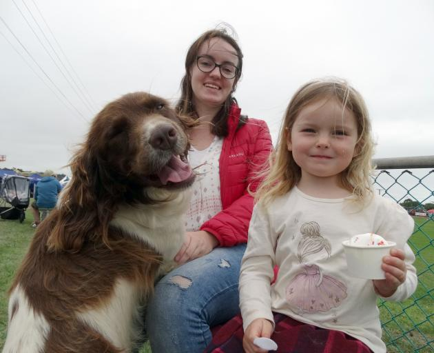 Enjoying their first time at Oamaru's North Otago A&P Show are Ciara Young and her daughter Molly...