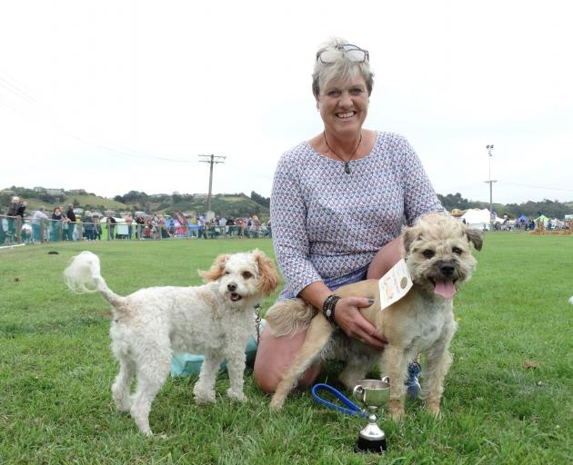 After winning the terrier race at Oamaru's North Otago A&P Show for a second year, Tomlyn...
