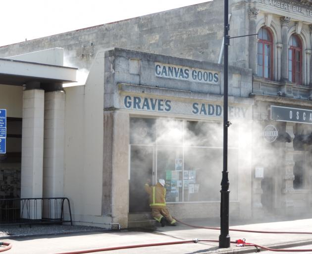 Nobody was injured as fire crews responded to a fire at Grave's Saddlery on Oamaru's Thames...