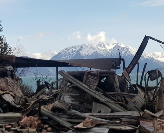 Lake Ohau Village, after the fire. PHOTO: SUPPLIED