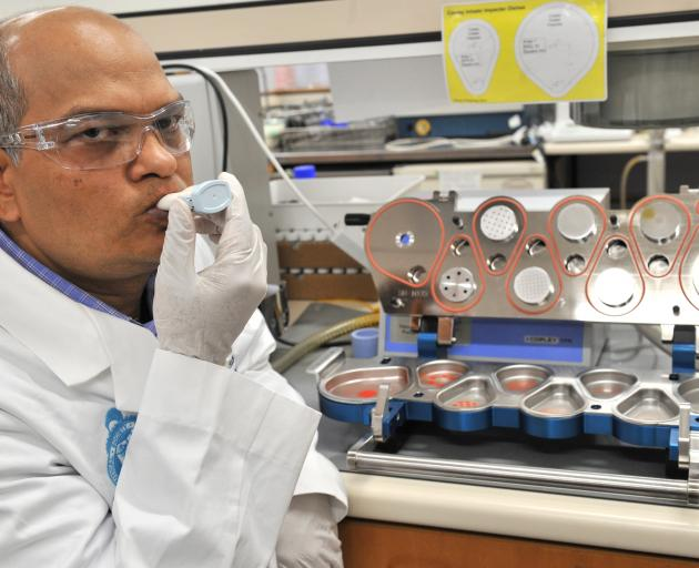 Associate Prof Shyamal Das is developing an inhaler that could be used to administer anti-Covid...