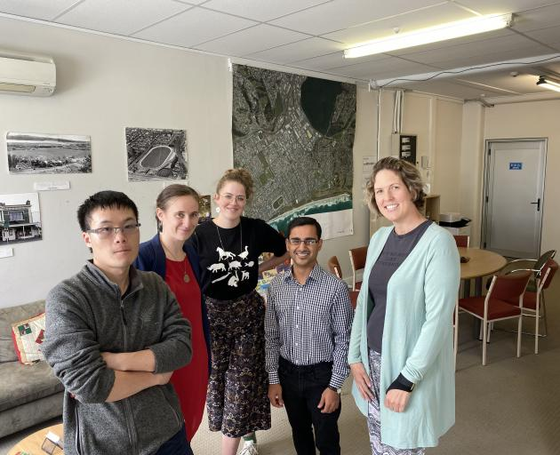 Looking forward to the launch of the new South Dunedin volunteer hub next week are (from left)...