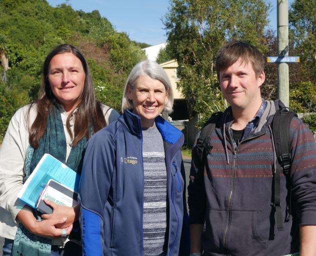 Speaking at the Otago Peninsula Community Board meeting last week were (from left) Jenny Rock,...