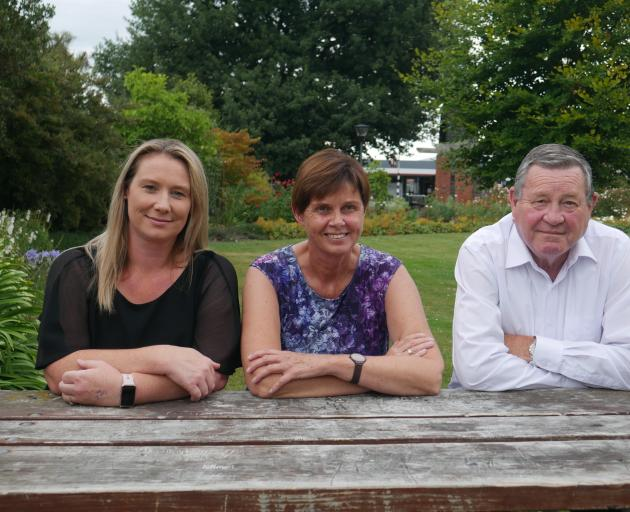 Advocating for the community . . . Mosgiel-Taieri Community Voice members (from left) Kelly...