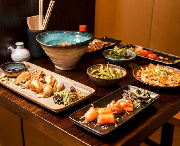 A selection of the tasty dishes at Japanese restaurant Tanoshi. PHOTO: SUPPLIED