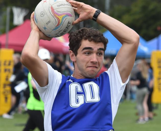 Arana College resident Dominic Edmond (18) plays netball.