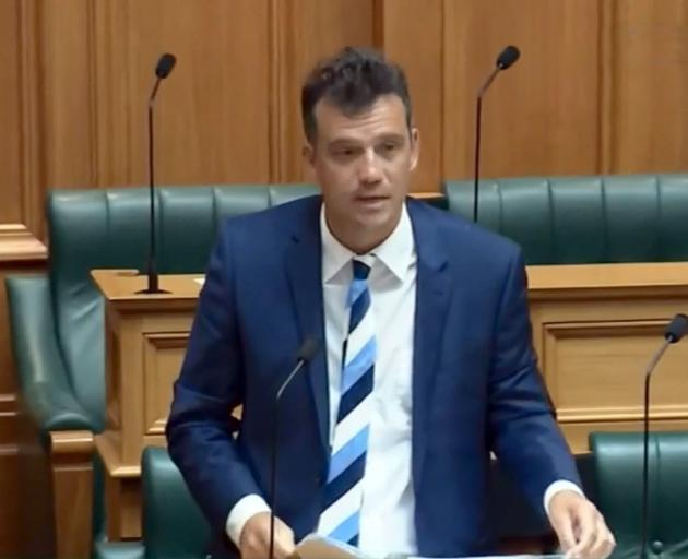 Southland MP Joseph Mooney makes his Parliamentary  debut. PHOTO: PARLIAMENT TV