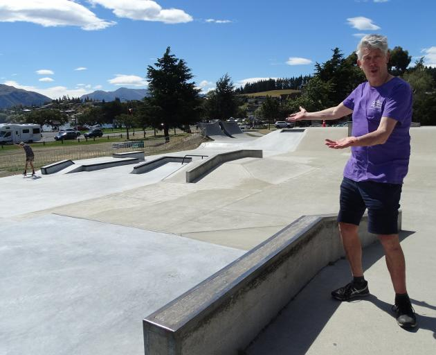Wanaka Skateboard park advocate and Queenstown Lakes District Council Deputy Mayor Calum Macleod...
