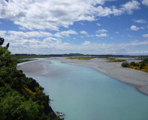 Emergency services weren't sure how the cars ended up in the Waimakariri River. Photo:...