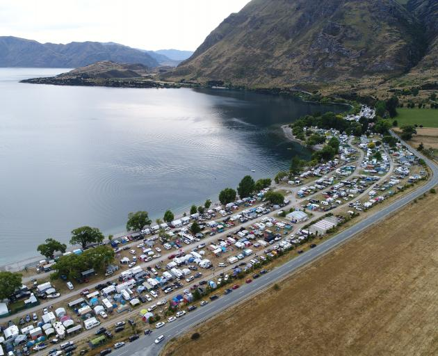 The Glendhu Bay camping round. Photo: Stephen Jaquiery