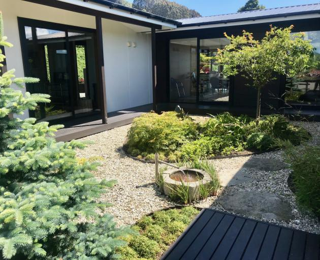 The house was designed around a Japanese-style courtyard garden.
